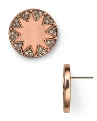 House of Harlow 1960 | Metallic Pave Sunburst Stud Earrings | Lyst