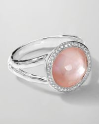 Ippolita | Metallic Stella Mini Lollipop Ring in Pink Motherofpearl Doublet Diamonds 015 | Lyst
