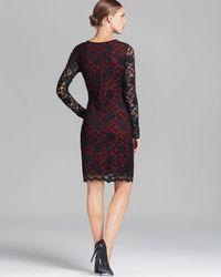 Karen Kane Black Long Sleeve Lace Dress