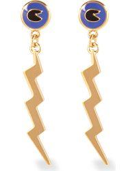 Marc By Marc Jacobs | Metallic Dynamite Lightening Bolt Earrings | Lyst