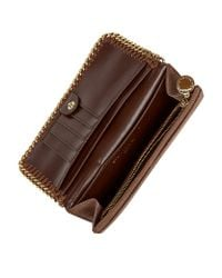 Stella McCartney Brown Falabella Flap Wallet