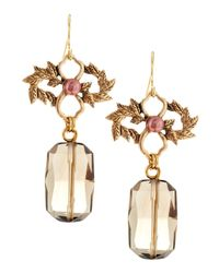 Stephen Dweck - Metallic Smoky Quartz And Pearl Drop Earrings - Lyst