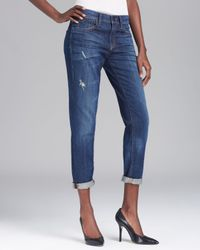 Vince Blue Jeans Mason Relaxed Rolled in New Vintage