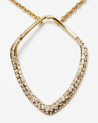 Alexis Bittar | Metallic Lucite Double Horseshoe Pendant Necklace | Lyst