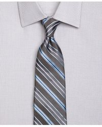 Brooks Brothers Blue Track Satin Stripe Tie for men