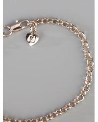 Fendi Metallic Charm Bracelet
