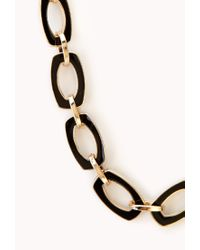 Forever 21 | Black Luxe Chain-link Necklace | Lyst
