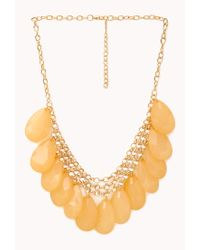 Forever 21 - Metallic Show Off Faux Stone Necklace - Lyst