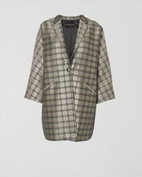 Jaeger Metallic Jacquard Coat