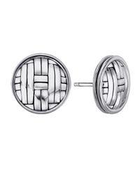 John Hardy - Metallic Bedeg Woven-carved Round Post Earrings - Lyst