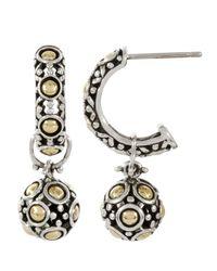 John Hardy Metallic Dot Jaisalmer Hoop Earrings