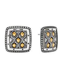 John Hardy | Metallic Naga Two-tone Square Post Earrings | Lyst