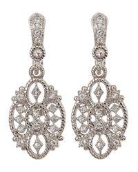 Judith Ripka | Metallic Small White Sapphire Castle Earrings | Lyst