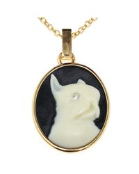 Marc By Marc Jacobs Black Olive Cameo Necklace