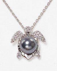 Nadri Metallic Pave Turtle Pendant Necklace 16