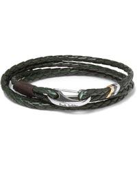 Paul Smith   Green Wovenleather Wrap Bracelet for Men   Lyst