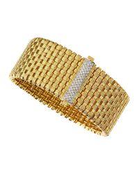 Roberto Coin | Metallic Yellow Gold Mini Diamond Bracelet | Lyst