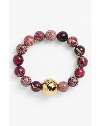 Simon Sebbag | Metallic Bead Stretch Bracelet for Men | Lyst