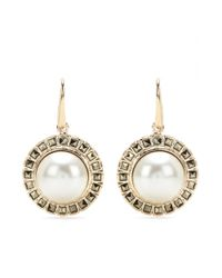 Valentino White Faux Pearl Earrings