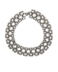 AllSaints | Metallic Hesse Crystal Necklace | Lyst