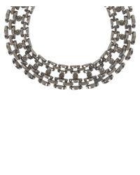 AllSaints | Metallic Hesse Crystal Necklace | Lyst