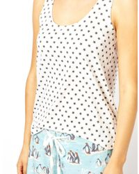 ASOS Blue Cath Kidston Penguin and Stars Cami and Short Set