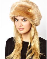 ASOS Brown Ted Baker Karah Faux Fur Cossack Hat