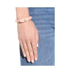 Balenciaga Pink Classic Matte Stud Leather Bracelet
