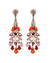 Ben-Amun | Pink and Orange Chandelier Earrings | Lyst