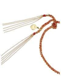 Carolina Bucci   Orange Red Gold Lucky Tie Bracelet   Lyst