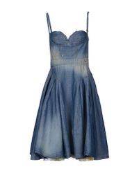 DSquared² - Blue Kneelength Dress - Lyst
