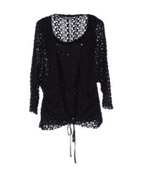 Ermanno Scervino - Black Semi Sheer Lace Blouse - Lyst
