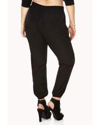 Forever 21 Black Minimalist Harem Pants