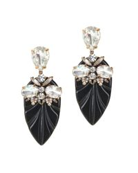 J.Crew | Black Resin Arrowhead Earrings | Lyst