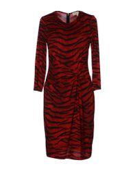 MICHAEL Michael Kors - Red Short Dress - Lyst