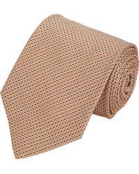 Petronius | Orange Dotted Squares Tie for Men | Lyst