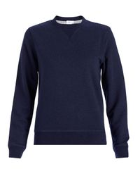 Sunspel | Blue Women's Loopback Cotton Sweatshirt | Lyst