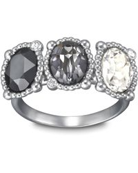 Swarovski   Metallic Rosette Ring   Lyst