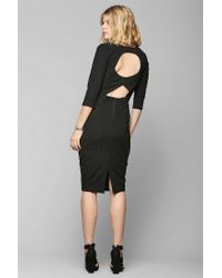 Urban Outfitters - Black Silence Noise Kaige Textured Bodycon Midi Dress - Lyst