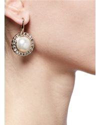 Valentino - White Pearl Micro Studs Earrings - Lyst