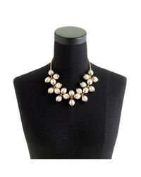 J.Crew - White Floating Pearl Necklace - Lyst