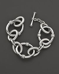 Judith Ripka | Metallic Sterling Silver Large Mixed Link Bracelet | Lyst
