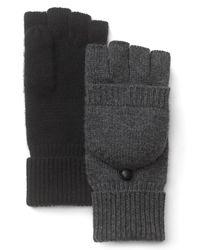 Bloomingdale's Black Poptop Gloves for men