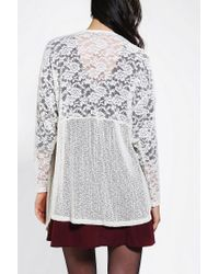 Urban Outfitters | White Kimchi Blue Cozy Lace Cardigan | Lyst