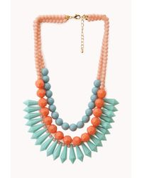 Forever 21 | Pink Layered Colorblock Necklace | Lyst