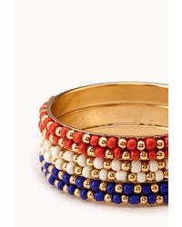 Forever 21 - Red Favorite Beaded Bangle Set - Lyst