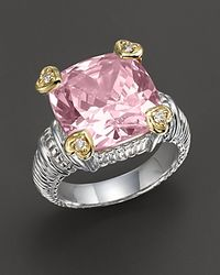 Judith Ripka - Pink Stone Heart Prong Ring - Lyst