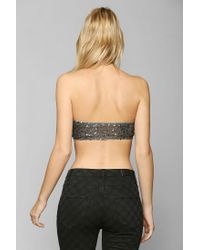 Urban Outfitters | Gray Top Secret Center Stage Bralette | Lyst