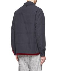 White Mountaineering Gray Quilted Shirt Blouson for men
