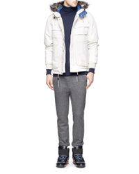 White Mountaineering White Gore-tex® Hooded Down Coat for men